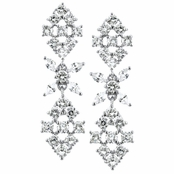 Hadley's Flower CZ Dangle Earrings
