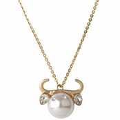 Hailey's Zodiac Horoscope Charm Necklace -  Taurus, The Bull