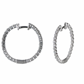 Halle' s Cubic Zirconia Hoop Earrings