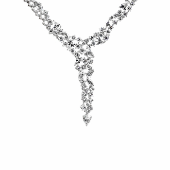 Hallie's Formal CZ Cluster Y Necklace