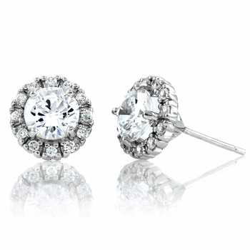 Hannelore's CZ Stud Earrings