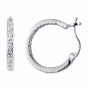 Harley's CZ Hoop Earrings - Medium - 15mm