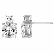 Harlowe's 5.5 TCW Cushion Cut Earrings