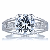 Heather's Engagement Ring - Round Cut CZ