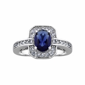 Heirloom Inspired Jewelry: Meena's Antique Blue CZ Ring