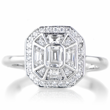 Heirloom Inspired Jewelry: Mona's CZ Vintage Engagement Ring