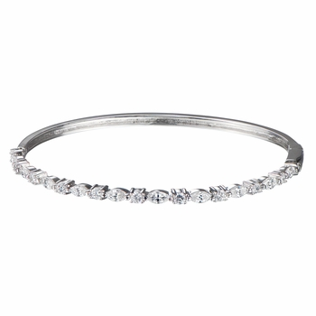 Idette's Round and Marquise Cut CZ Bangle Bracelet