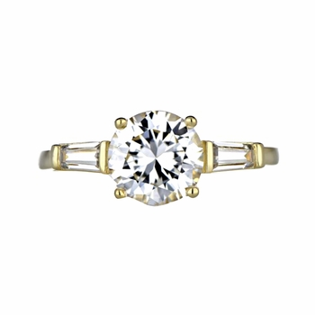 Sookie's 2 Carat Goldtone CZ Engagement Ring