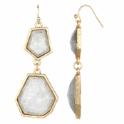 Irena's Geometric Double Drop Earrings