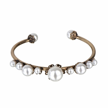 Isabel's Fancy Simulated Pearl Bangle Bracelet