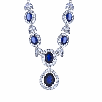 Jacqueline's Blue CZ Necklace
