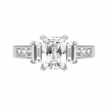 Jada's CZ Emerald Cut Engagement Ring - 1.25ct