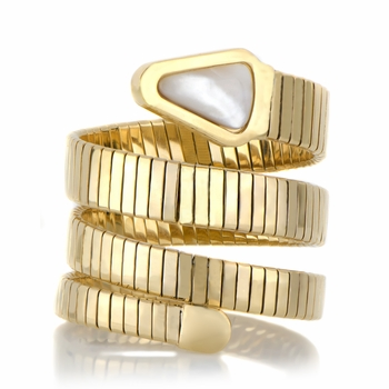 Jamie's Goldtone Stainless Steel Fashion Wrap Braclet