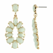 Jasmine's Green Stone Fashion Dangle Earrings