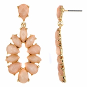 Jasmine's Pink Stone Fashion Dangle Earrings