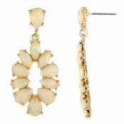 Jasmine's White Fashion Dangle Earrings