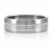 Jasper's Plain Men's Stainless Steel Ring - Engravable