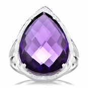 Jayde's Light Purple Faceted Pear Cut Cocktail Ring
