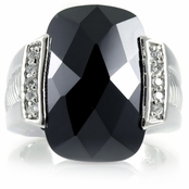 Jillian's Black CZ Estate Ring