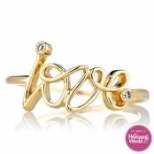Joelle's Goldtone Love Ring