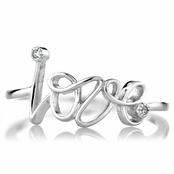 Joelle's Petite CZ and Cursive Love Promise Ring
