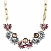 Juliette's Champagne and Grey Holiday Statement Necklace