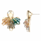 Julita's Fancy Multicolored Cluster Earrings