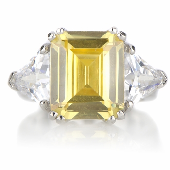 Juniper's Asscher Cut Canary Cocktail Ring