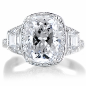 Kala's Cushion Cut Silvertone Engagement Ring