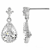 Kalare's Pear Drop Pave CZ Earrings