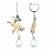 Kanya's Monkey Imitation Pearl Dangle Earrings