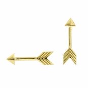 Katniss' Goldtone Arrow Earrings - Comparable To the Hunger Games