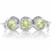 Kay's August Imitation Birthstone Ring - Peridot CZ, Silver