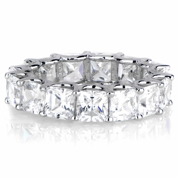 Kharlyn's Princess Cut CZ Eternity Band Ring