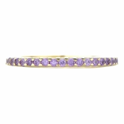 Kimber's Gold Plated Purple CZ Eternity Ring Band