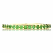 Kimber's Goldtone Green CZ Eternity Ring Band