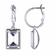 Kolina's Emerald Cut Crystal Dangle Earrings
