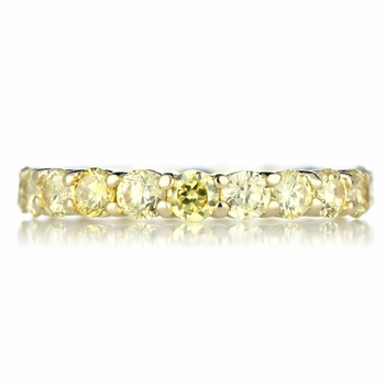 Kotien's Goldtone Eternity Ring- Canary CZ