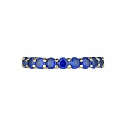 Kotien's Goldtone Eternity Ring - Blue CZ