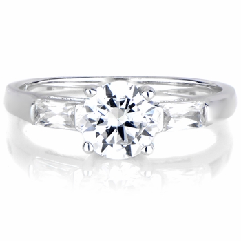 Kula's Round Cut 3 Stone Engagement Ring