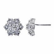 Lana's Cluster CZ Stud Earrings