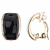 Larissa's Black Half Hoop Clip On Earrings