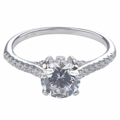 Lexis' Round Cut Cubic Zirconia Engagement Ring