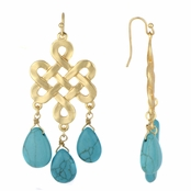 Lila's Knotted Imitation Turquoise Bohemian Earrings