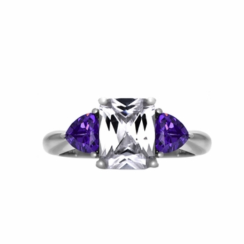 Lilian's 3 Stone Engagement Ring