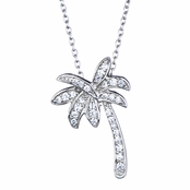 Lina's CZ California Palm Tree Necklace