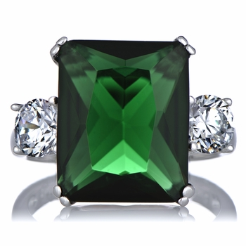 Lisbeth's Green CZ Cocktail Ring