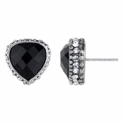 Lonnie's Black Rhinestone Stud Earrings