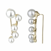 Louise's Simulated Pearl Goldtone Ear Cuff