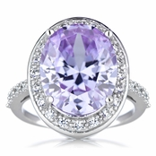 Lucia's Lavender CZ Oval Cut Cocktail Ring